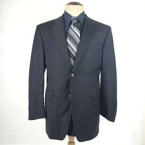 Jos. A. Bank 40R Blue Wool Blend Blazer Sport Coat
